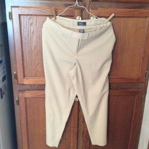George women's dress pants cream colored +